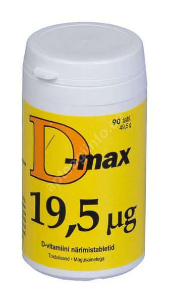 bb6f6217a86 D-MAX NÄRIMISTABLETID 19,5MCG N90